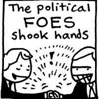 Historic Handshake (Claremont, 1995)