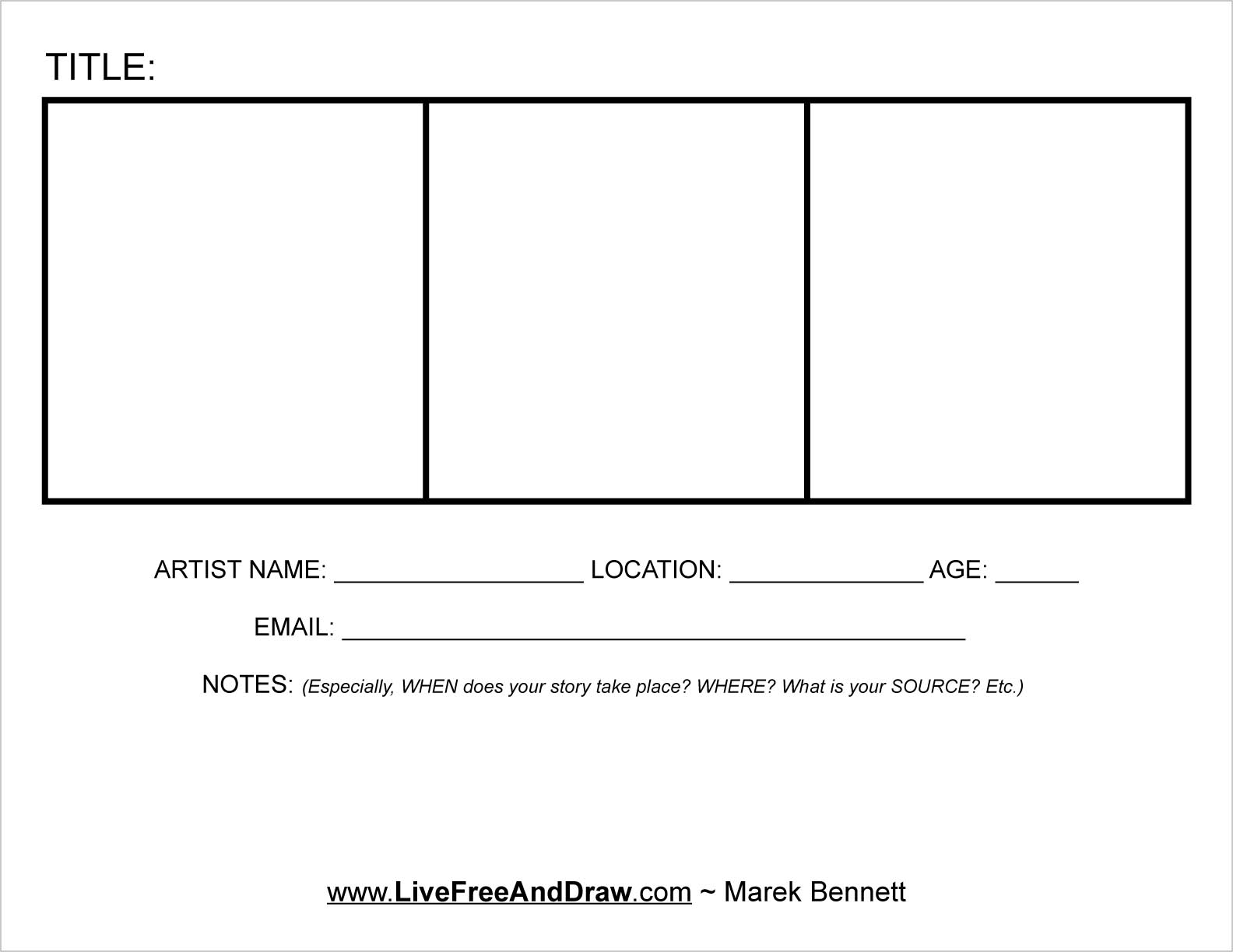 four panel comic strip template - get involved live free and draw