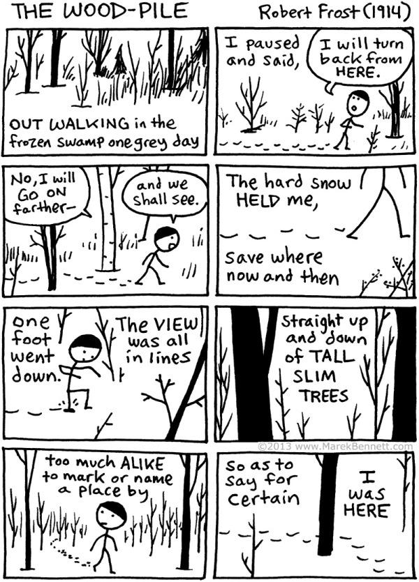 Poetry-Frost-TheWood-pile-01-www.MarekBennett.com